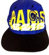 VTG St. Louis Rams NFL Football Funky Blue Logo 7 Snapback Cap Hat  - $503,97 MXN