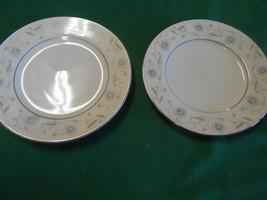 Beautiful ENGLISH GARDEN Fine China...Set of 2 BREAD-SALAD-DESSERT Plate... - $6.52