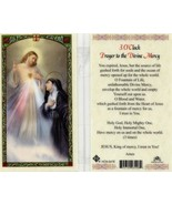 3 O' Clock Prayer Holy Card Divine Mercy - EB234 -  Laminated - Top Sellers - $2.23