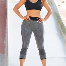 """Women""""s Breathable Mesh Stitching Hip Yoga Pants Sports Cropped Trousers... - $11.90"""