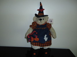 Pacifix Intl HALLOWEEN WITCH BEAR 21 inch Pumpkin Ghost Dress & Broom NEW - $67.54