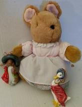 Vtg Eden Warne Schmid Mrs Tittlemouse Plush Ceramic Benjamin Bunny Jemima Mouse - $35.24