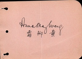 ANNA MAY WONG Autograph. Nicely signed album page. Chinese-American film... - $232.65