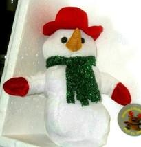 Christmas SNOWMAN dressed UP  decoration plush - $11.75
