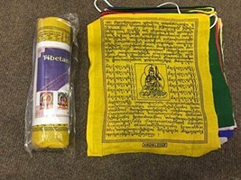 Tibetan Pure cotton Buddhist prayer flag/lungta/large/ 25 Leaves /6 Mete... - $17.00