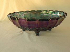 INDIANA IRIDESCENT BLUE CARNIVAL GLASS HARVEST ... - $14.80