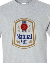 Natural Light Beer T-shirt retro vintage style distressed print grey graphic tee image 2