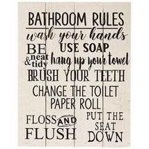 """Bathroom Rules Wood Pallet Sign ~11.75"""" ~ Farm House Bathroom Sign - $26.95"""