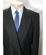 ALBERT NIPON MR.EDDIE WILMETTE MEN'S SPORT COAT BLACK WOOL DOUBLE BREAST... - $48.95
