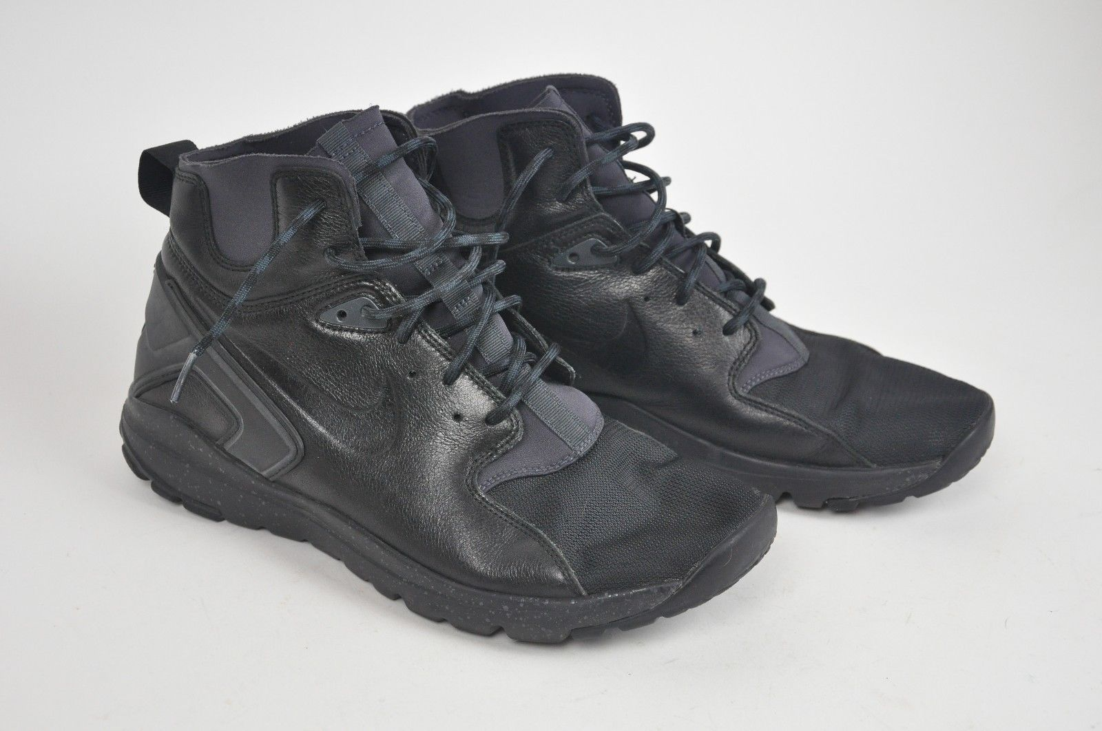 Men's NIKE Koth Ultra Mid Solid Black Boot Shoes 2014 Trainers Sneaker Size 10.5