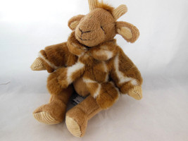 "Russ Berrie Giraffe GISELLA Stuffed animal Plush Wearing Coat 8"" Rare vi... - $14.84"