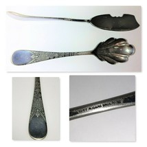 1847 Rogers Bros. A1 Butter Spreader Knife and Berry Spoon Antique  - $39.60