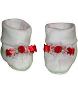 Preemie & Newborn Girls Red Rose Booties  - $10.00
