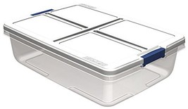 Hefty Storage Container Set of 6, 34 quart, Clear - $79.26