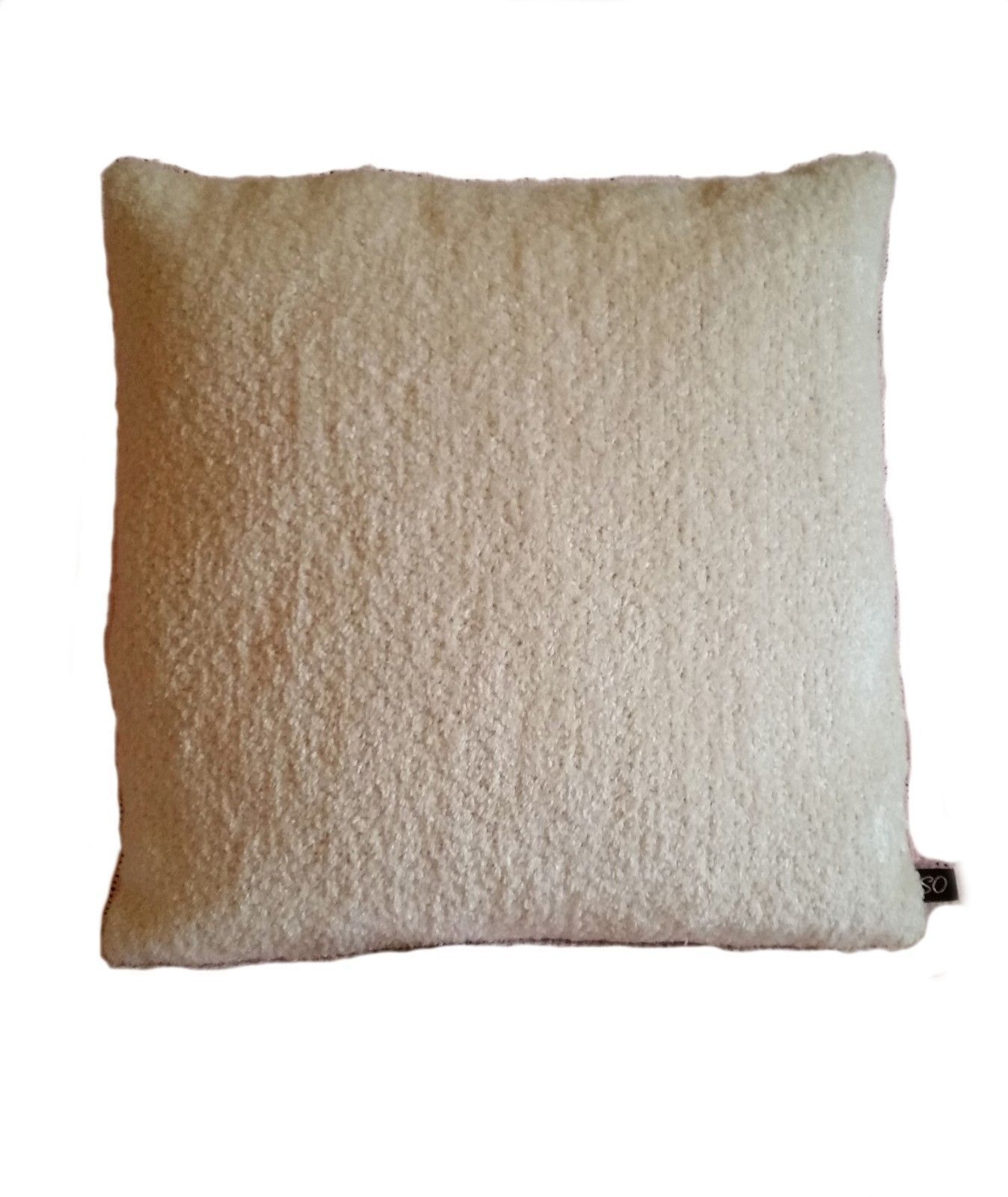 1 Pillow Cover Mid Century Cream Chenille - B3