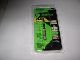 """Greenlee, Drill/Tap Bit, 1/4""""-20 - $19.99"""