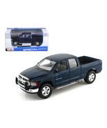 2002 Dodge Ram Quad Cab 4 Doors Pick Up Truck Blue 1 27 Diecas...