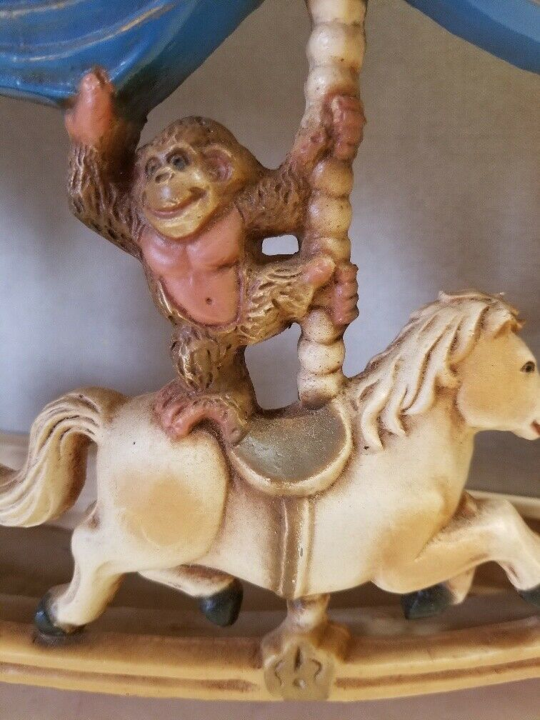 1979 HOMCO Molded 3D Merry Go Round Circus Carousel Wall Plaque Carnival Decor
