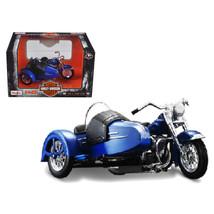 1952 Harley Davidson FL Hydra Glide with Side Car Blue with Black Motorc... - $27.05
