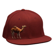 Camel Snapback Hat by LET'S BE IRIE - Cardinal Red - £16.59 GBP