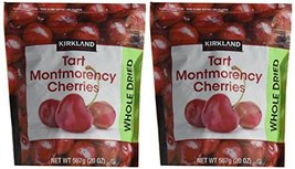 Kirkland Signature Whole Dried Tart Montmorency Cherries: 2 Bags of 20 Oz - $33.65