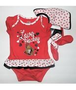 NHL Apparel Infant Girls Washington Senators Bodysuit Bib Booties Set Sz... - $16.48