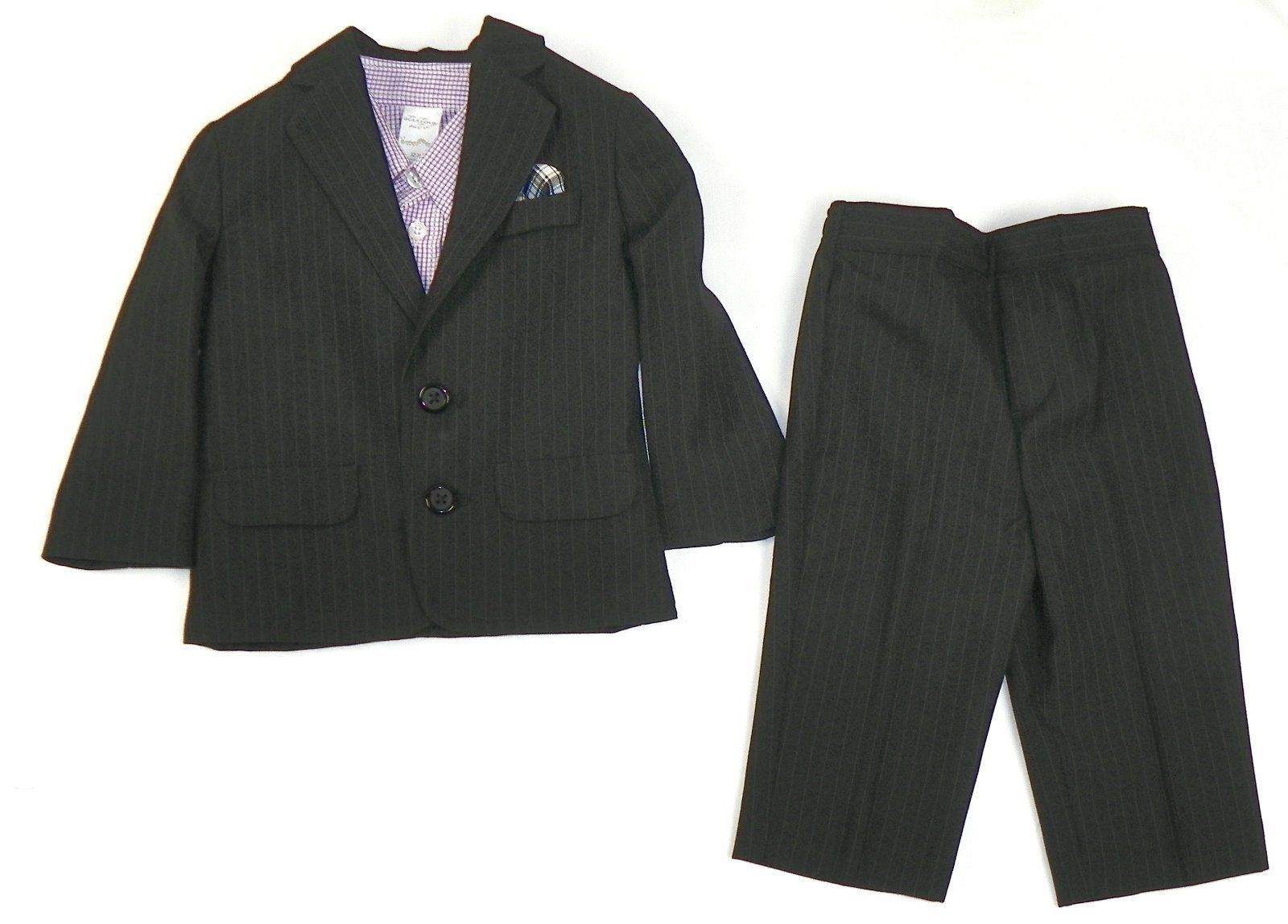 Infant Baby Boy's Suit 3-Piece Long Sleeve Shirt Jacket Pants Starting Out NEW
