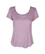 CHARTER CLUB MISS-MMG Charter Club Printed Cotton Knit Pajama T-Shirt - £10.70 GBP