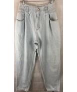 Vintage Lee High Waist Denim Light Wash Denim Jeans Size 14P Pleated USA... - $26.68