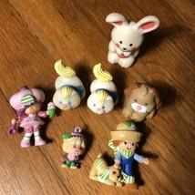 VTG 1980s Strawberry Shortcake PVC Figures Lot + Cat Dog Bunny - $49.99