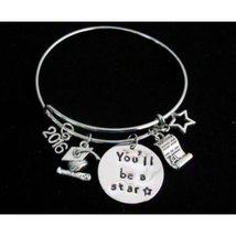You Will Be a Star Graduation Bangle Bracelet, Personalized Graduate Bra... - $19.00