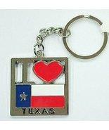 I Heart Texas with Texas Flag Metal Keychain- Texas Souvenir - $3.49