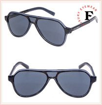 DOLCE & GABBANA ANGEL DG 4355 Tortoise Blue Aviator Sunglasses DG4355S Men - $236.61
