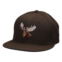 Moose Head Snapback Hat by LET'S BE IRIE - Brown - £15.43 GBP