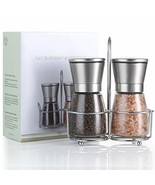 T·G·Y Salt and Pepper Grinder Set with Stand Salt Pepper Mill Salt & Pep... - $12.27