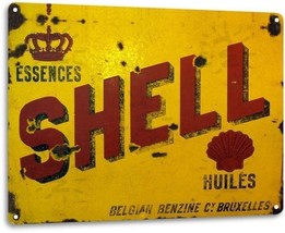 Shell Oil Gas Station Service Garage Retro Vintage Wall Decor Large Metal Sign - $19.95
