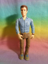 2002 Fisher Price Loving Family Dollhouse Man Dad Father Doll Brown Pant... - $9.85