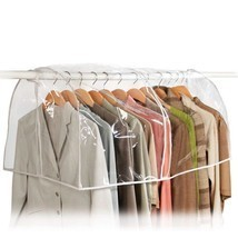 Clear Storage Garment Bag Closet Suit Vinyl Clothes Rack Cover Dust Prot... - $14.64
