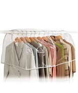 Clear Storage Garment Bag Closet Suit Vinyl Clothes Rack Cover Dust Prot... - £11.34 GBP
