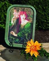 Vintage Irish Celtic Decor Lass & Harp Plaque S... - $12.19