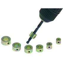 Drill Stop Set 7 Piece Locks onto Drill Bits & Drills Holes to Exact Depths - $6.85