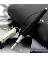 Fashion Greta Garbo Black Resin Classical Fountain pen Golden Silver Cli... - $21.99