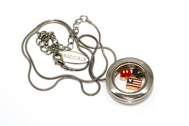 Bracciale Disney Round Locket Necklace Floating Mickey American Floating Charms - $24.74