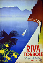 "16x20""Poster on Canvas.Home Room Interior design.Travel Italy.Garda Lake... - $46.75"