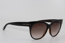 NEW TOM FORD TF 330 03B SASKIA BLACK GRADIENT SUNGLASSES AUTHENTIC 57-14... - $176.72