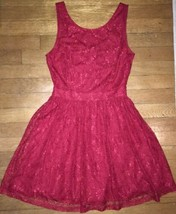 ! NWT Forever 21 XXI red lace strappy fancy dress SIZE small womens - $21.78