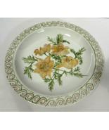 Mitterteich Bavaria Dinner Plate 9 Inches Yellow Floral - $11.87