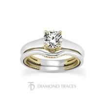 0.90ctw D-VS2 Ideal Round Genuine Diamonds 18k Gold Rope Basket Bridal S... - $2,924.26