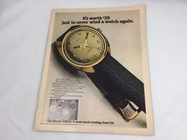 1972 Timex Electric Watch Ad Print Advertisement 21058 Wrist Wristwatch  - $13.99