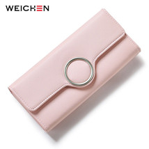 WEICHEN® Fashion Geometric Element Hasp Long Day Clutch Wallets Soft PU ... - $14.83